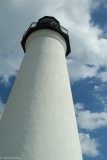Reaching for the clouds, the Port Isabel Lighthouse.