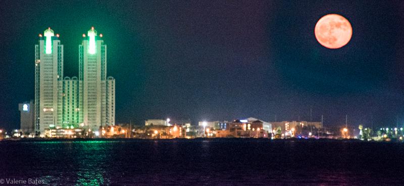 South Padre Island skyline.